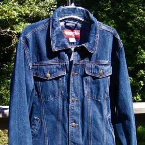Vintage Wrangler Dark Blue Denim Jean Jacket Men M